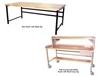 HEAVY-DUTY TUBULAR FRAMEWORK DOUBLE STRINGER WORK BENCHES